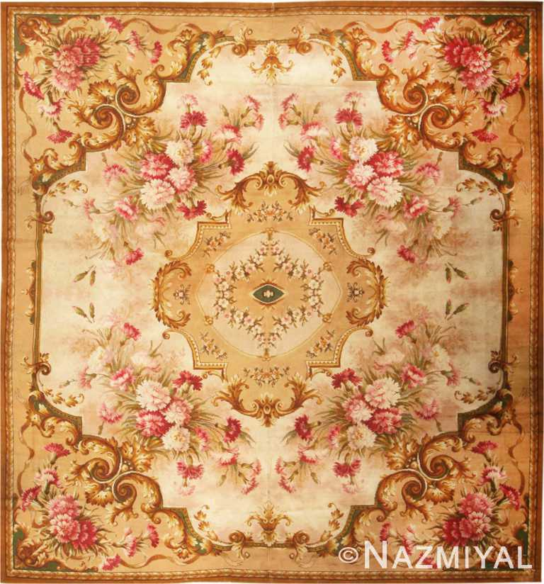 Antique English Axminster Rug #2409 by Nazmiyal Antique Rugs