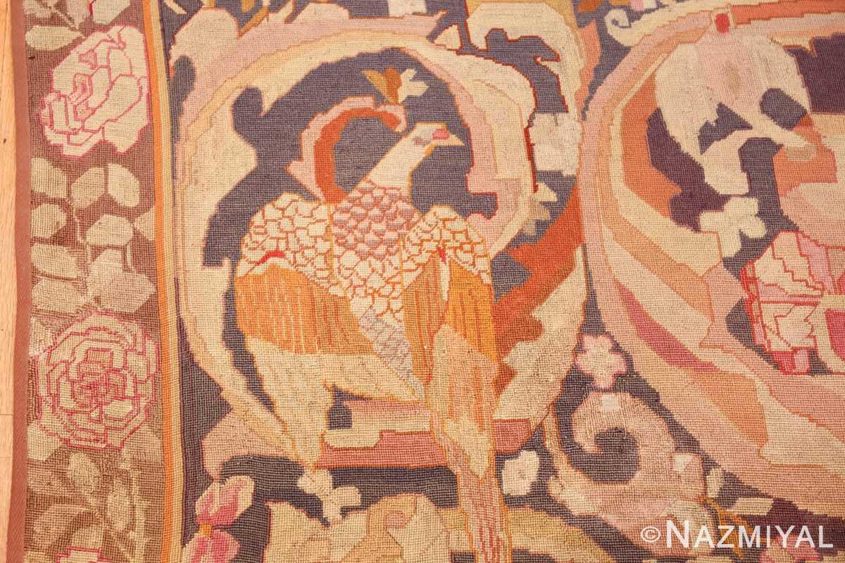antique english needlepoint rug 1733 eagle Nazmiyal
