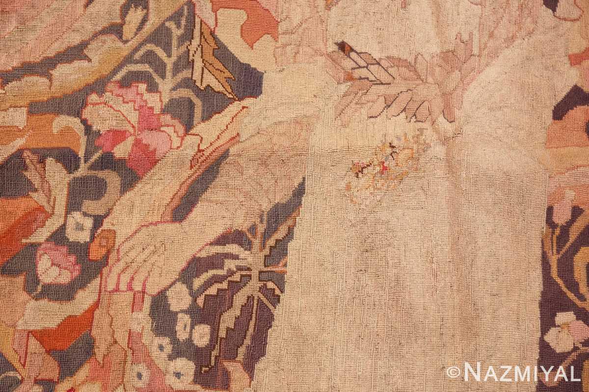 antique english needlepoint rug 1733 hand Nazmiyal