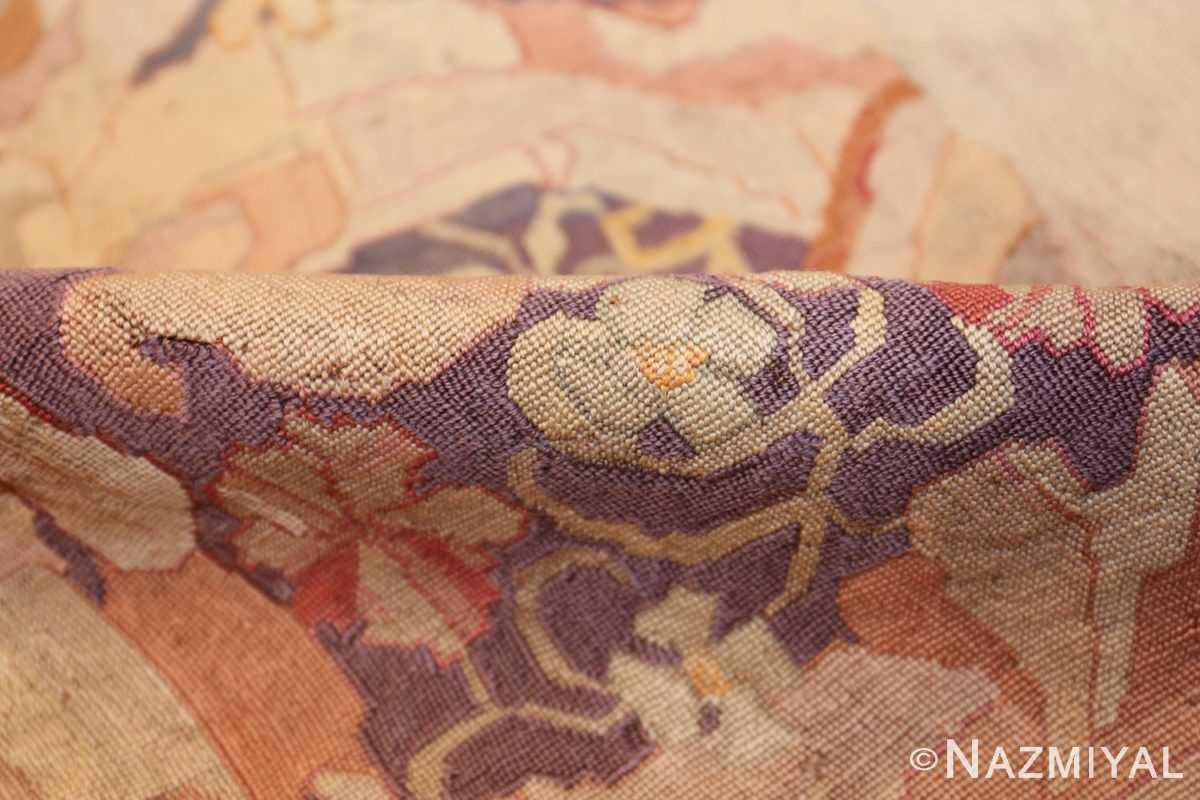 antique english needlepoint rug 1733 pile Nazmiyal