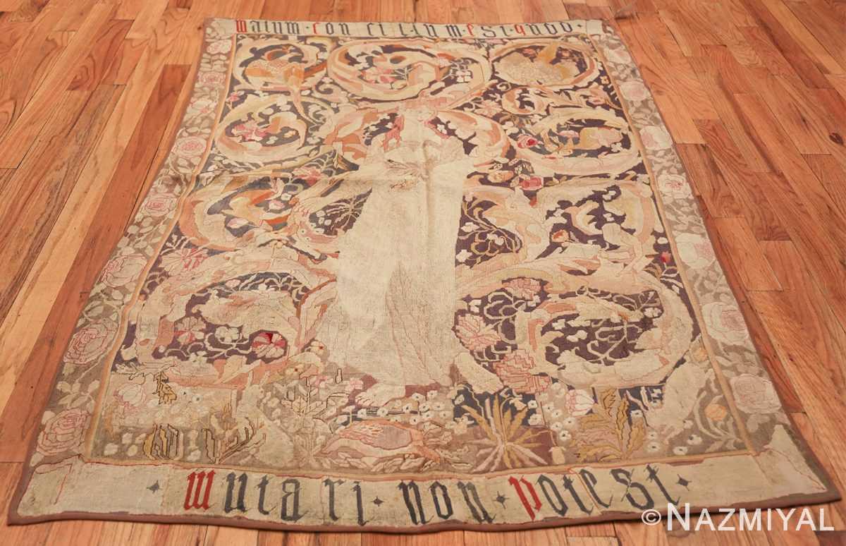 antique english needlepoint rug 1733 whole Nazmiyal