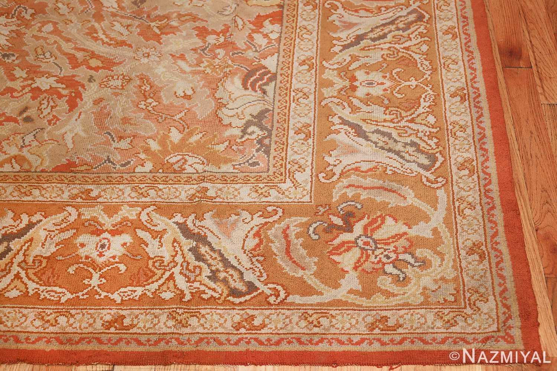 antique irish rug 40419 corner Nazmiyal
