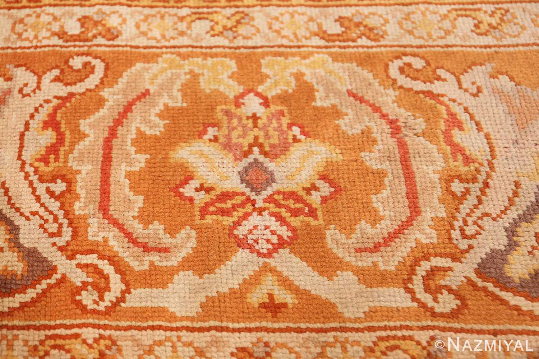 antique irish rug 40419 orange Nazmiyal