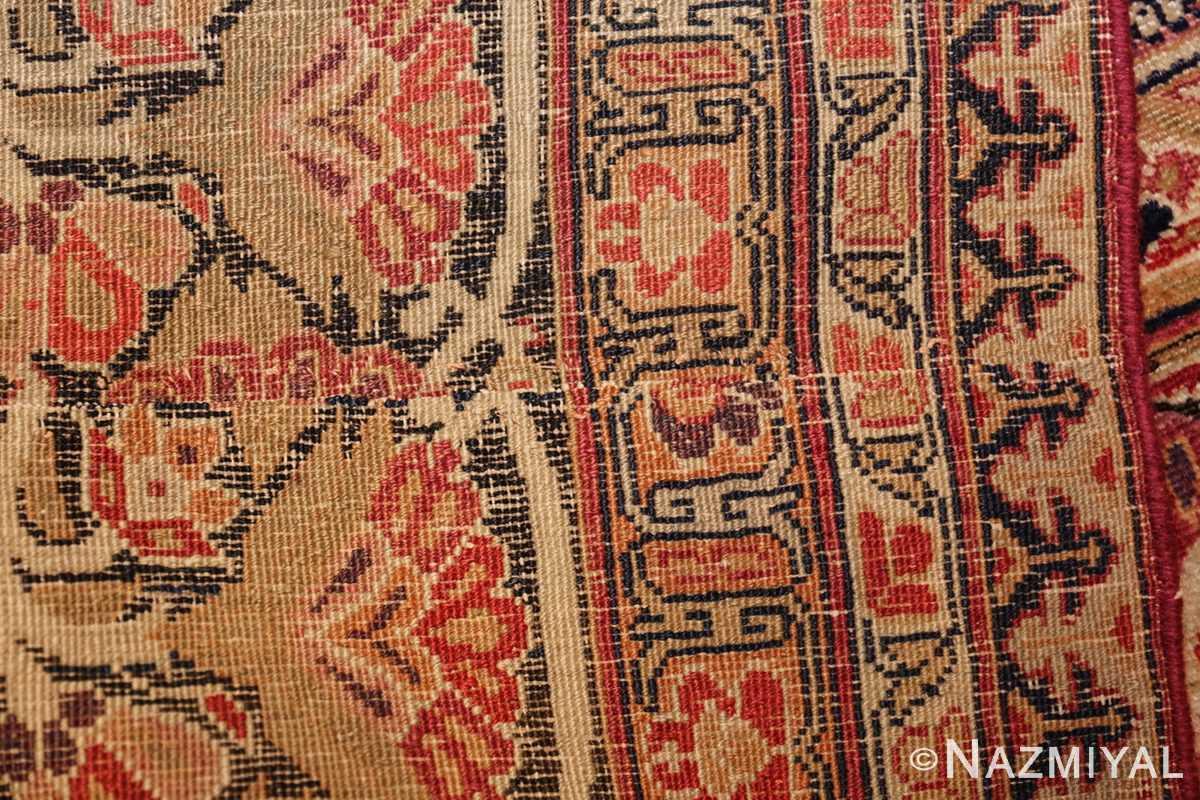 antique kerman persian rug 1195 back Nazmiyal
