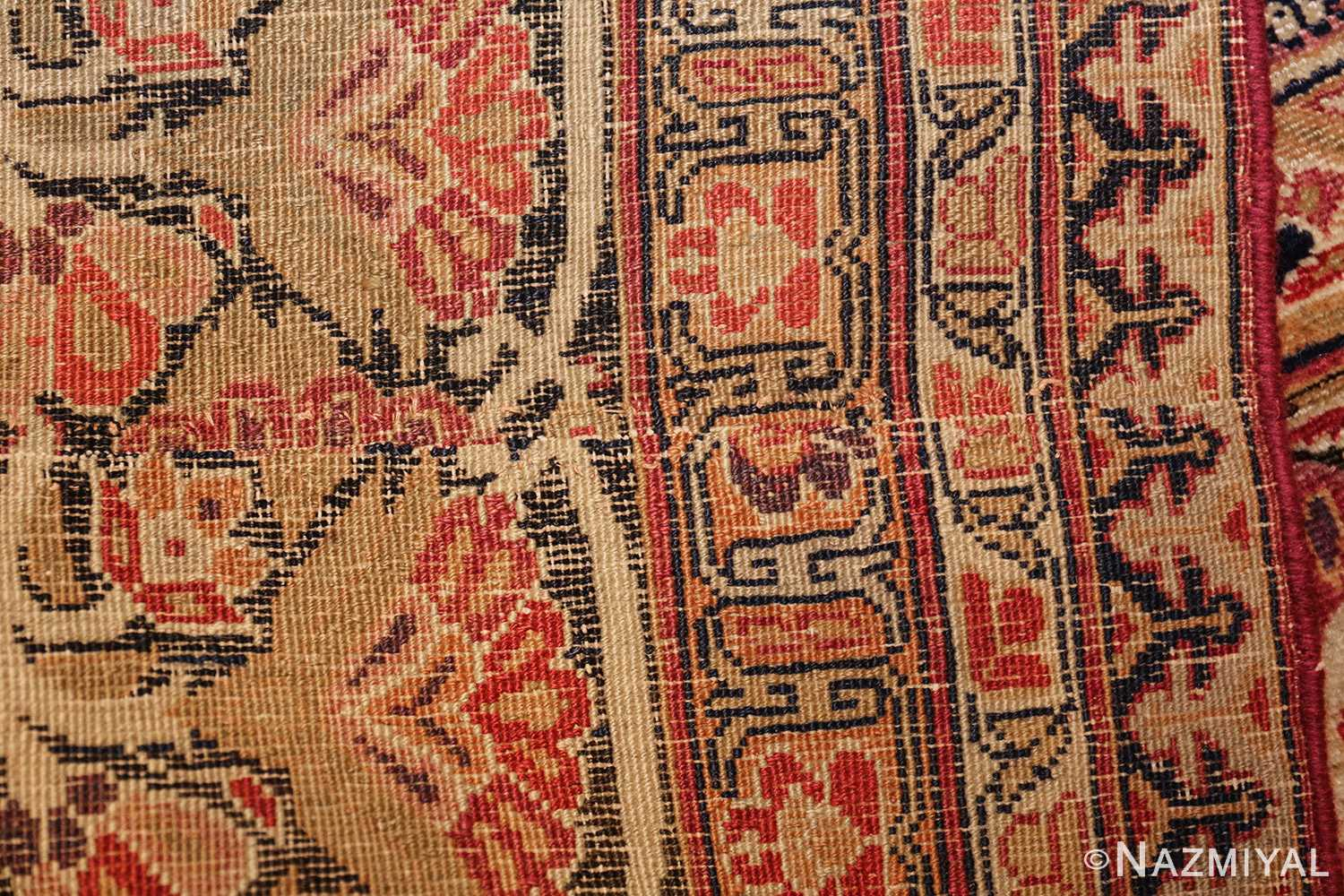antique kerman persian rug 1195 back Nazmiyal