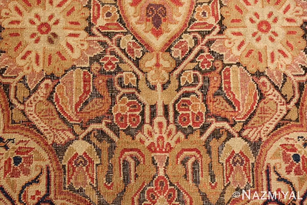 antique kerman persian rug 1195 birds Nazmiyal