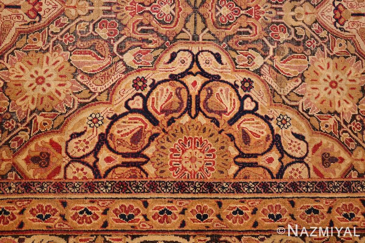 antique kerman persian rug 1195 black Nazmiyal