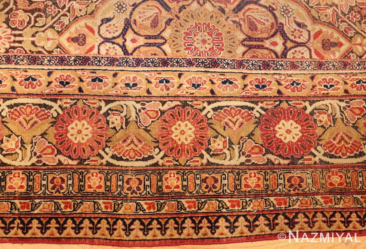 antique kerman persian rug 1195 border Nazmiyal