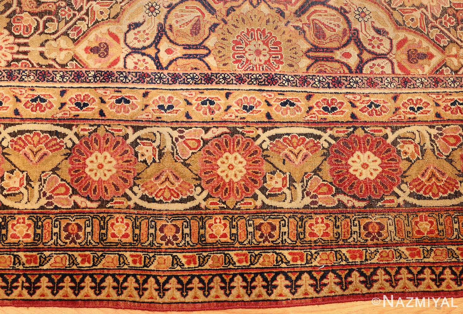 antique kerman persian rug 1195 border Nazmiyal