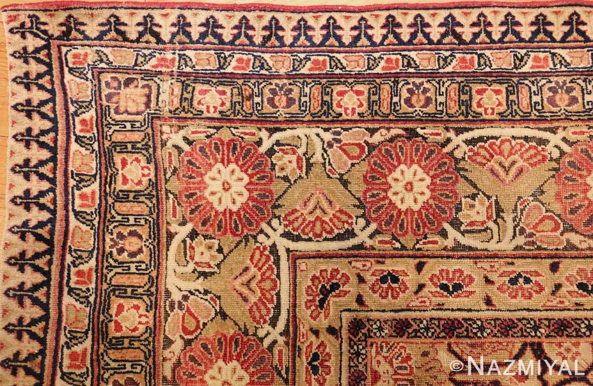 antique kerman persian rug 1195 corner Nazmiyal