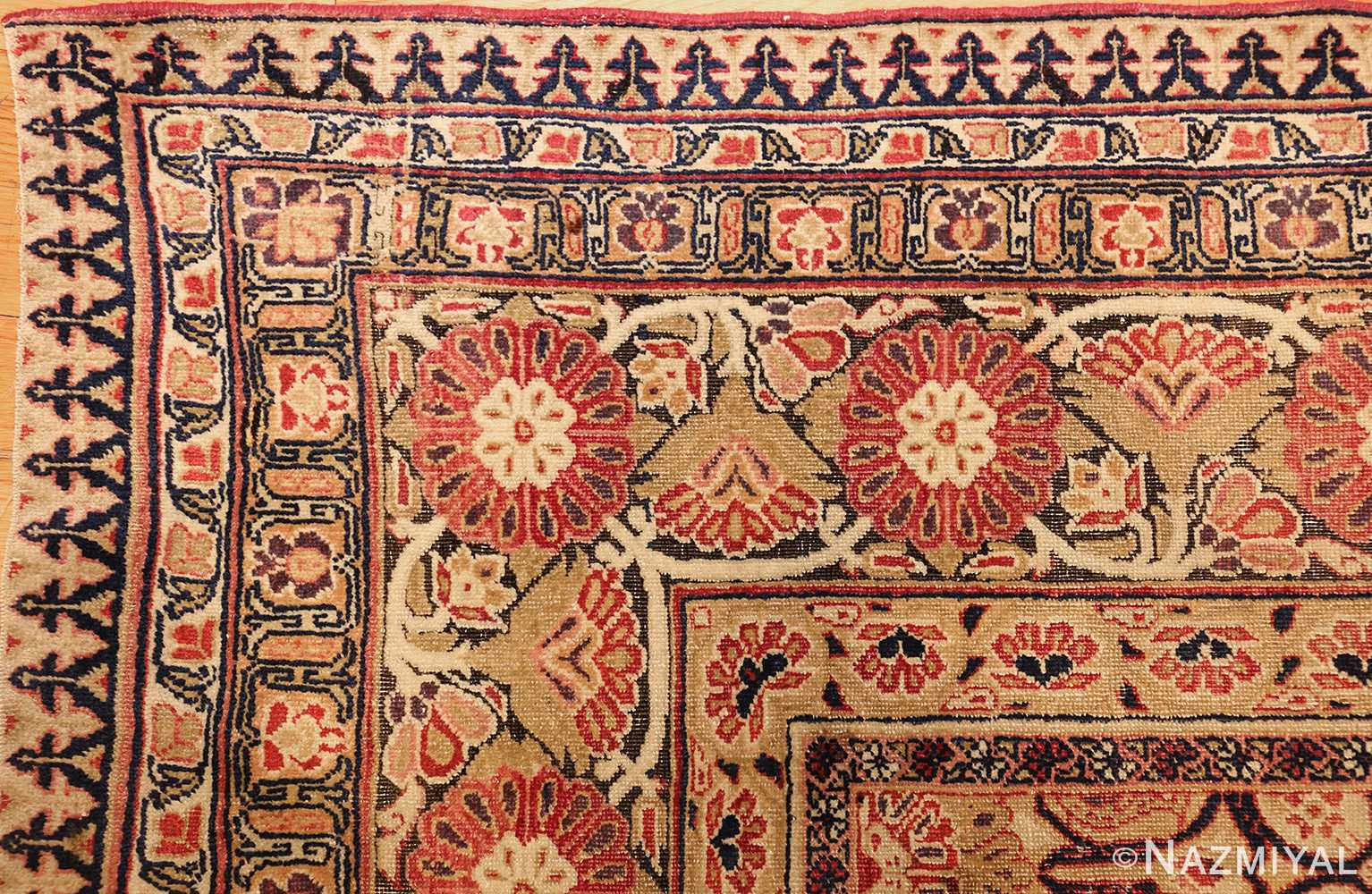 antique kerman persian rug 1195 corner Nazmiyal