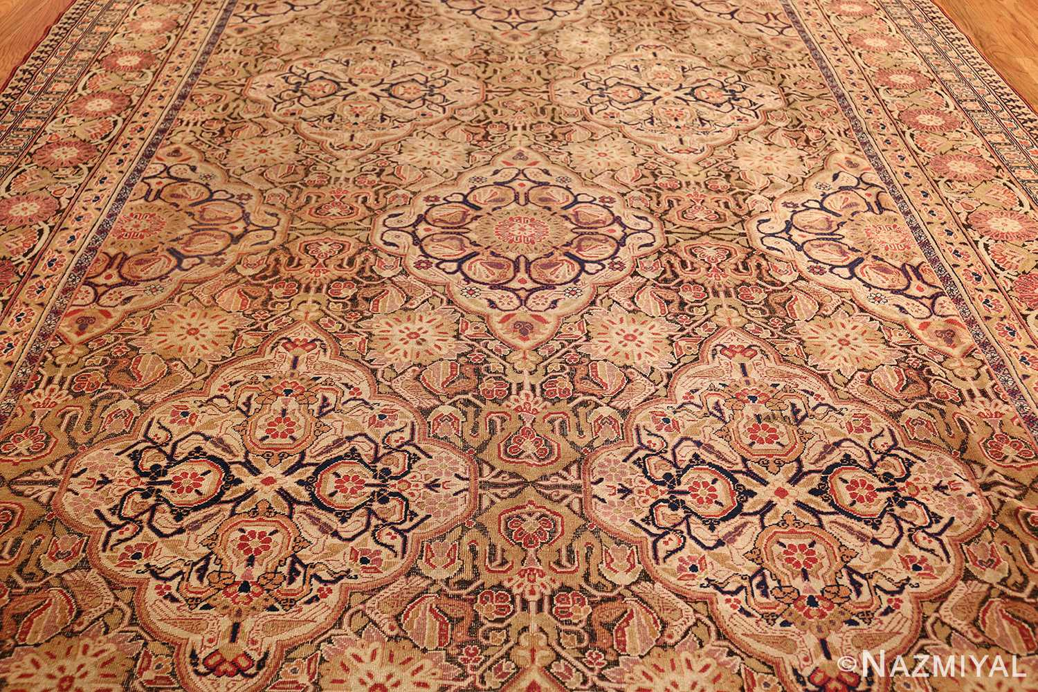 antique kerman persian rug 1195 field Nazmiyal