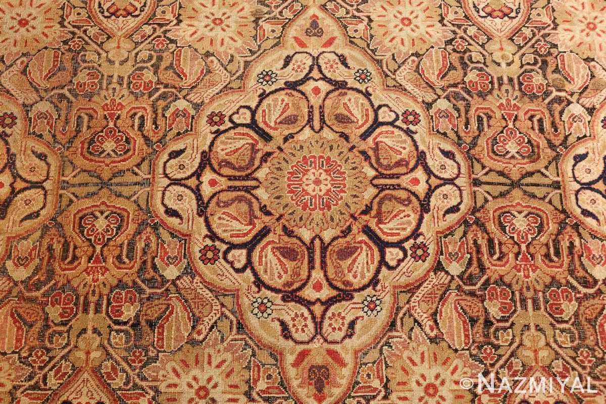 antique kerman persian rug 1195 flower Nazmiyal