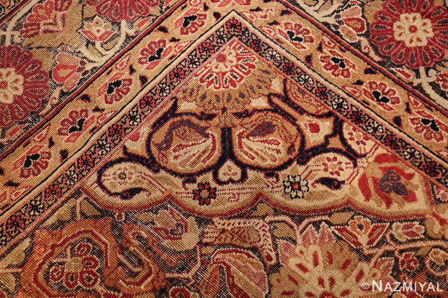 antique kerman persian rug 1195 heart Nazmiyal