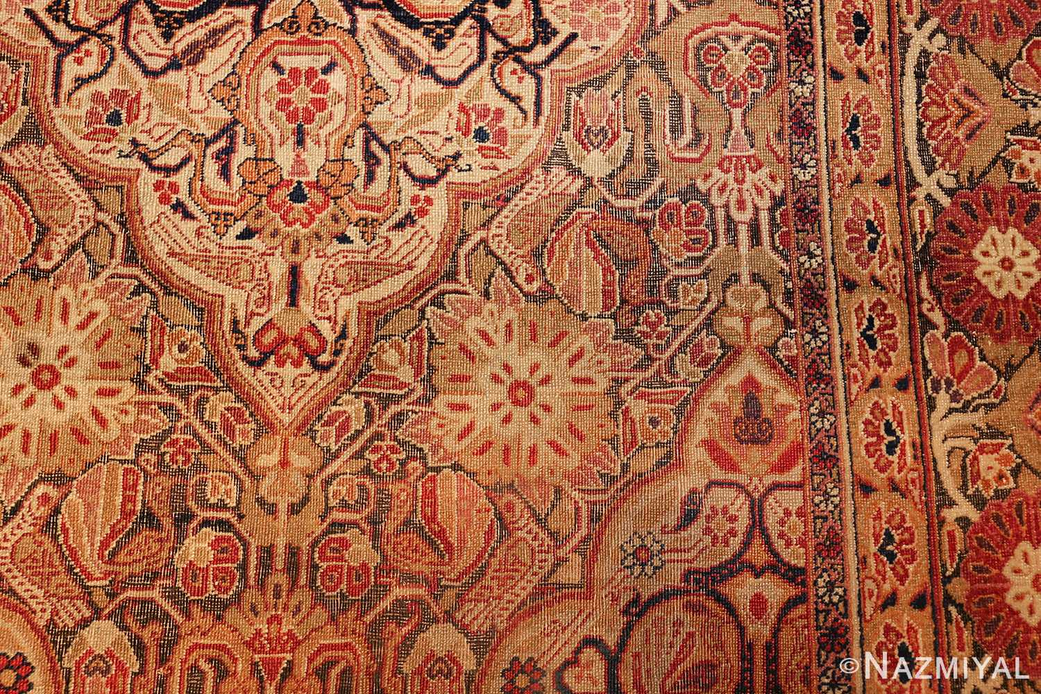 antique kerman persian rug 1195 hegzo Nazmiyal