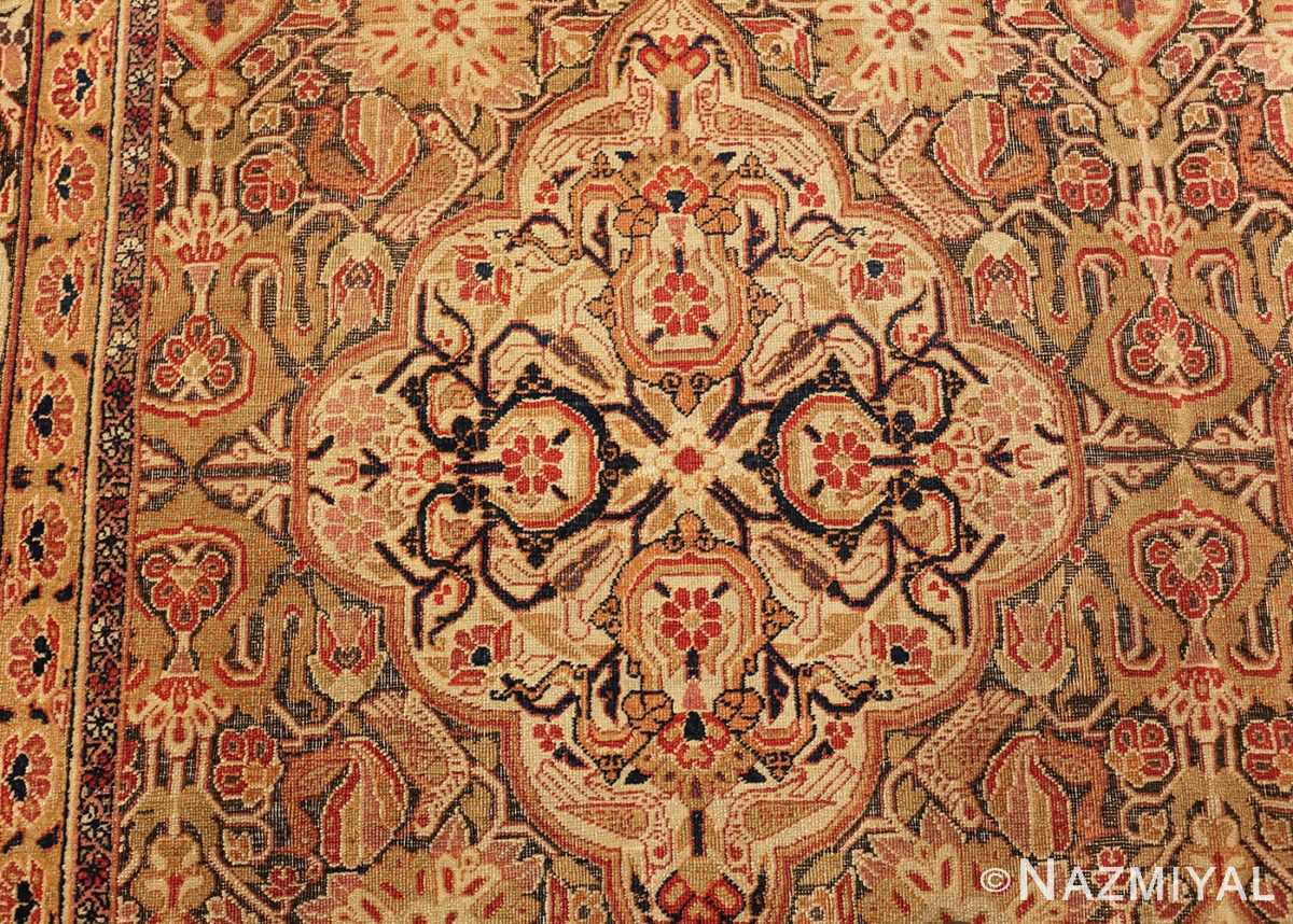 antique kerman persian rug 1195 medallion Nazmiyal