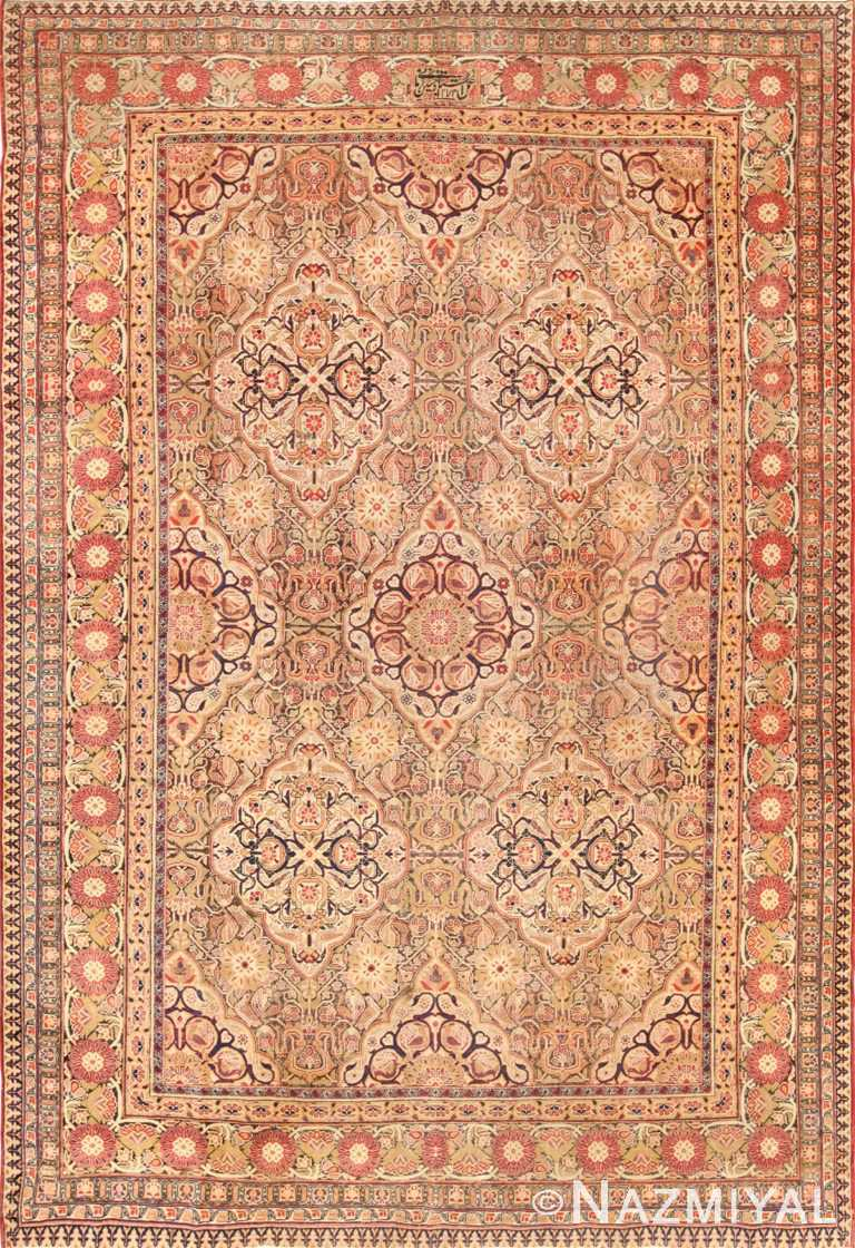 antique kerman persian rug 1195 nazmiyal edited Nazmiyal