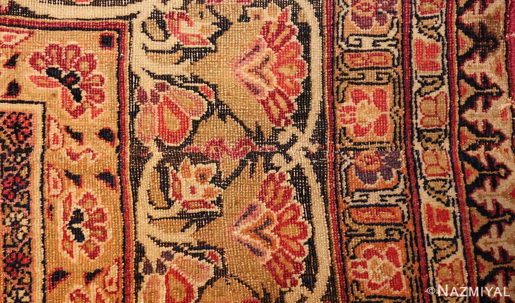 antique kerman persian rug 1195 part Nazmiyal