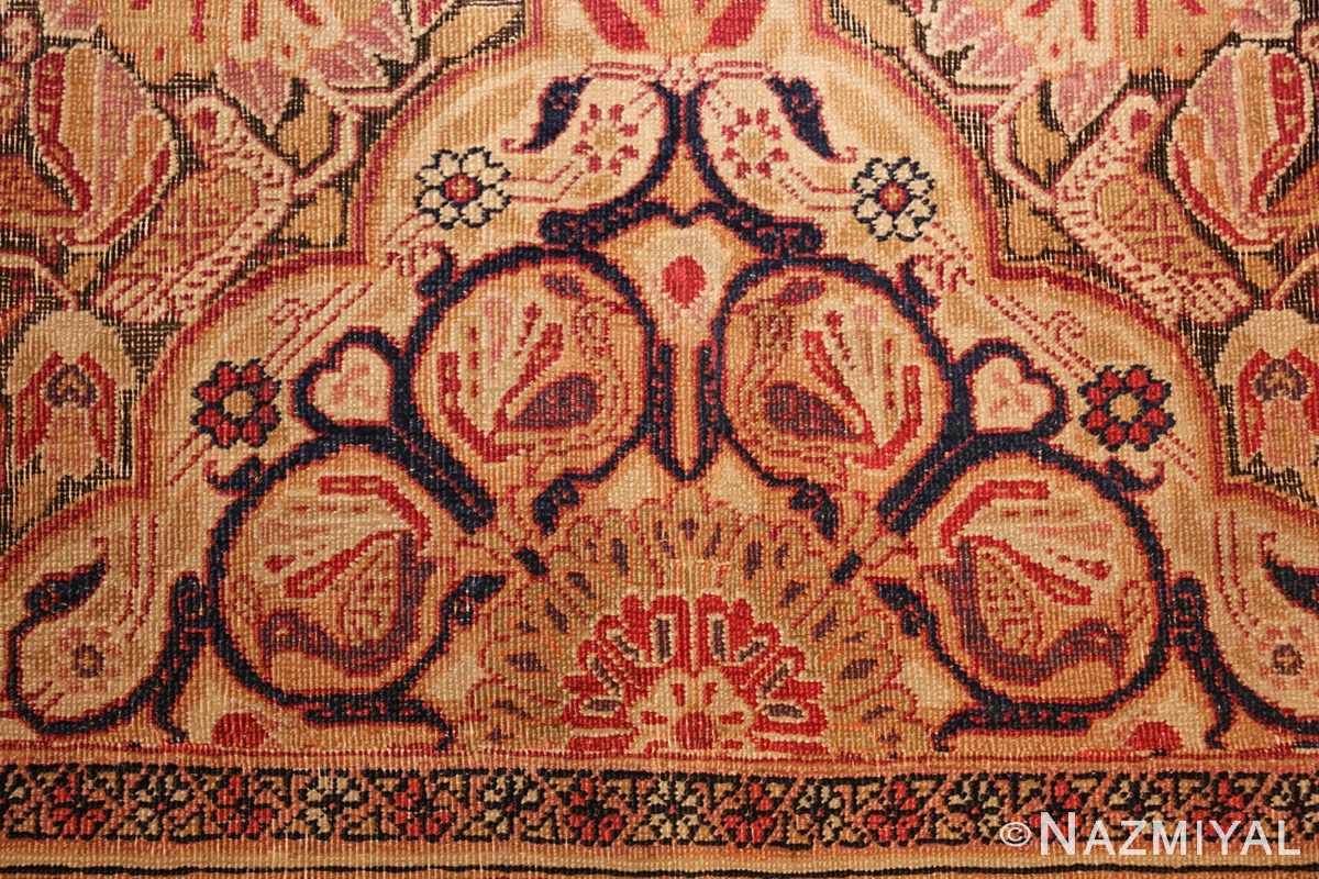 antique kerman persian rug 1195 peacock Nazmiyal