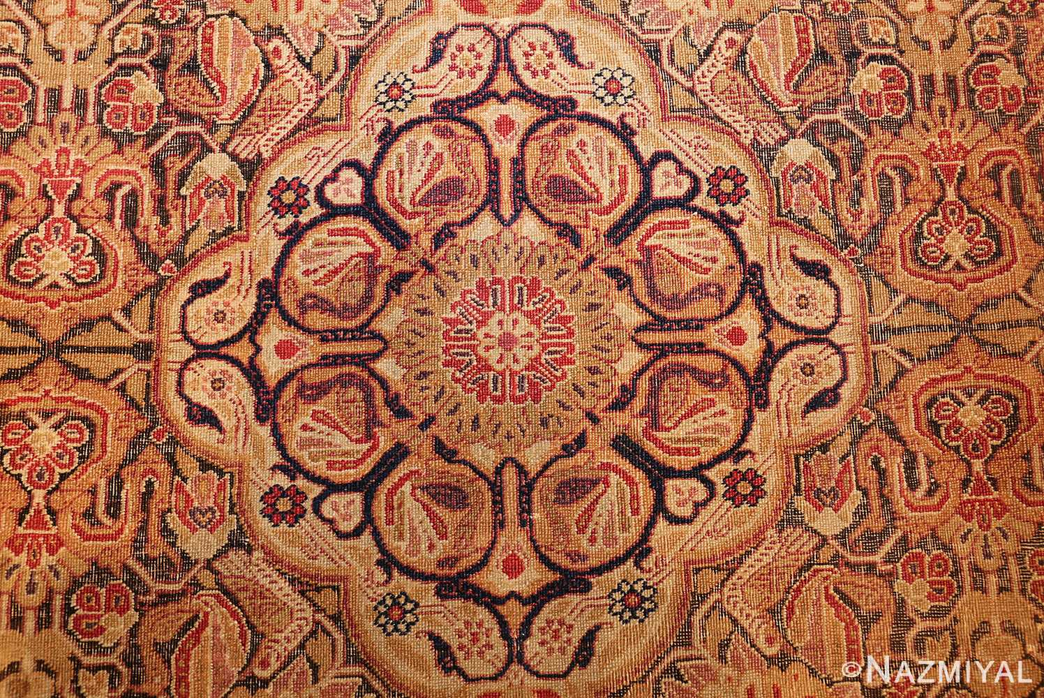 antique kerman persian rug 1195 total Nazmiyal