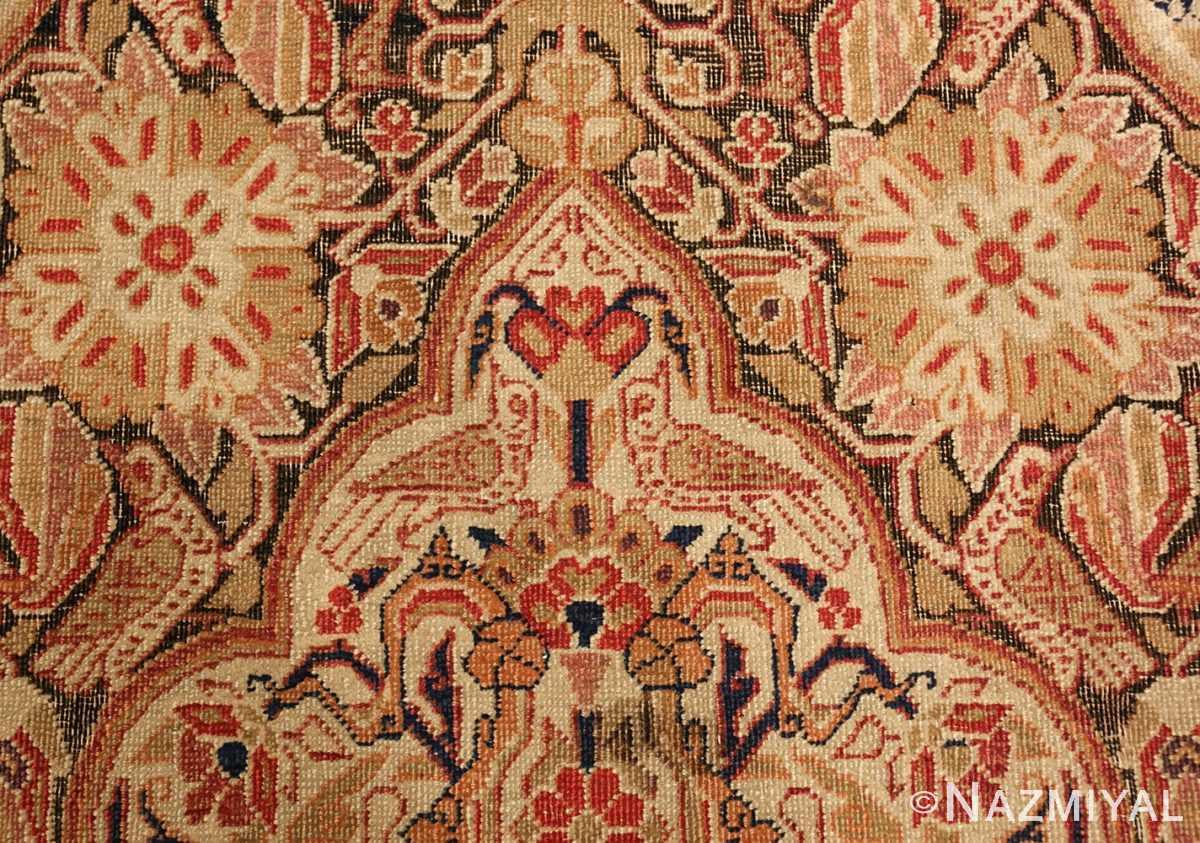 antique kerman persian rug 1195 white Nazmiyal