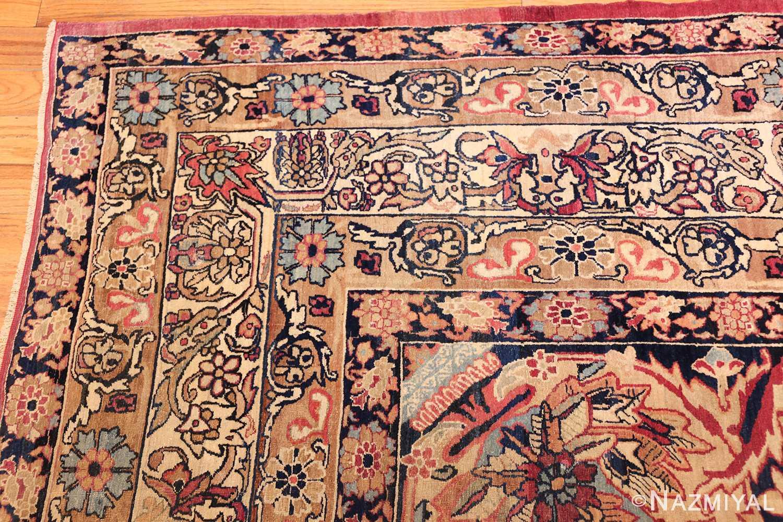 antique kerman persian rug 40523 corner Nazmiyal