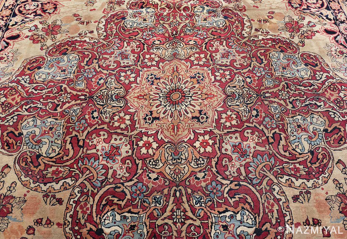antique kerman persian rug 40523 medallion Nazmiyal
