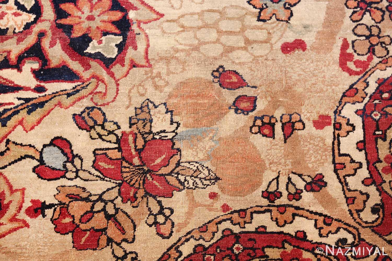 antique kerman persian rug 40523 rose Nazmiyal