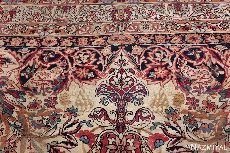 antique kerman persian rug 40523 tiara Nazmiyal