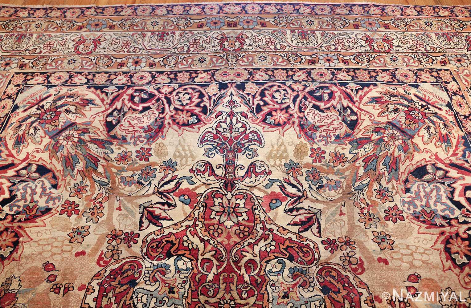 antique kerman persian rug 40523 top Nazmiyal