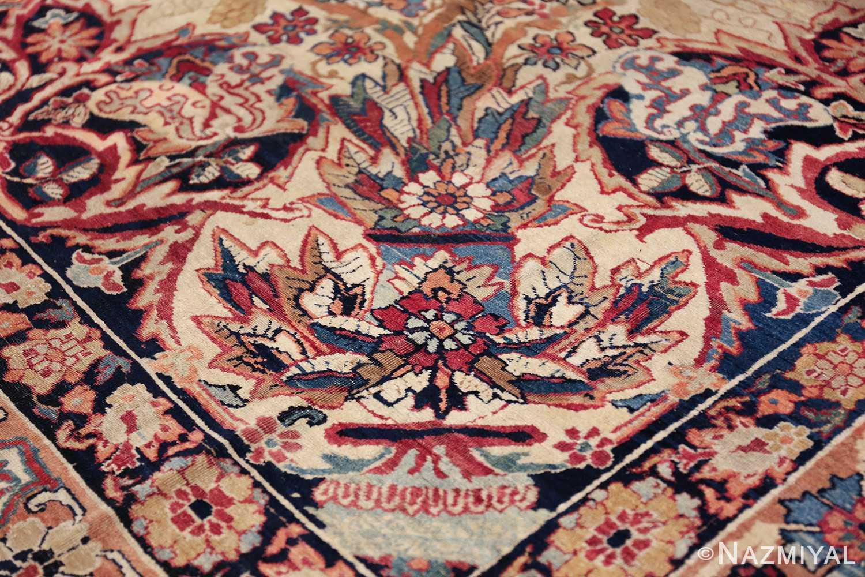 antique kerman persian rug 40523 vase Nazmiyal