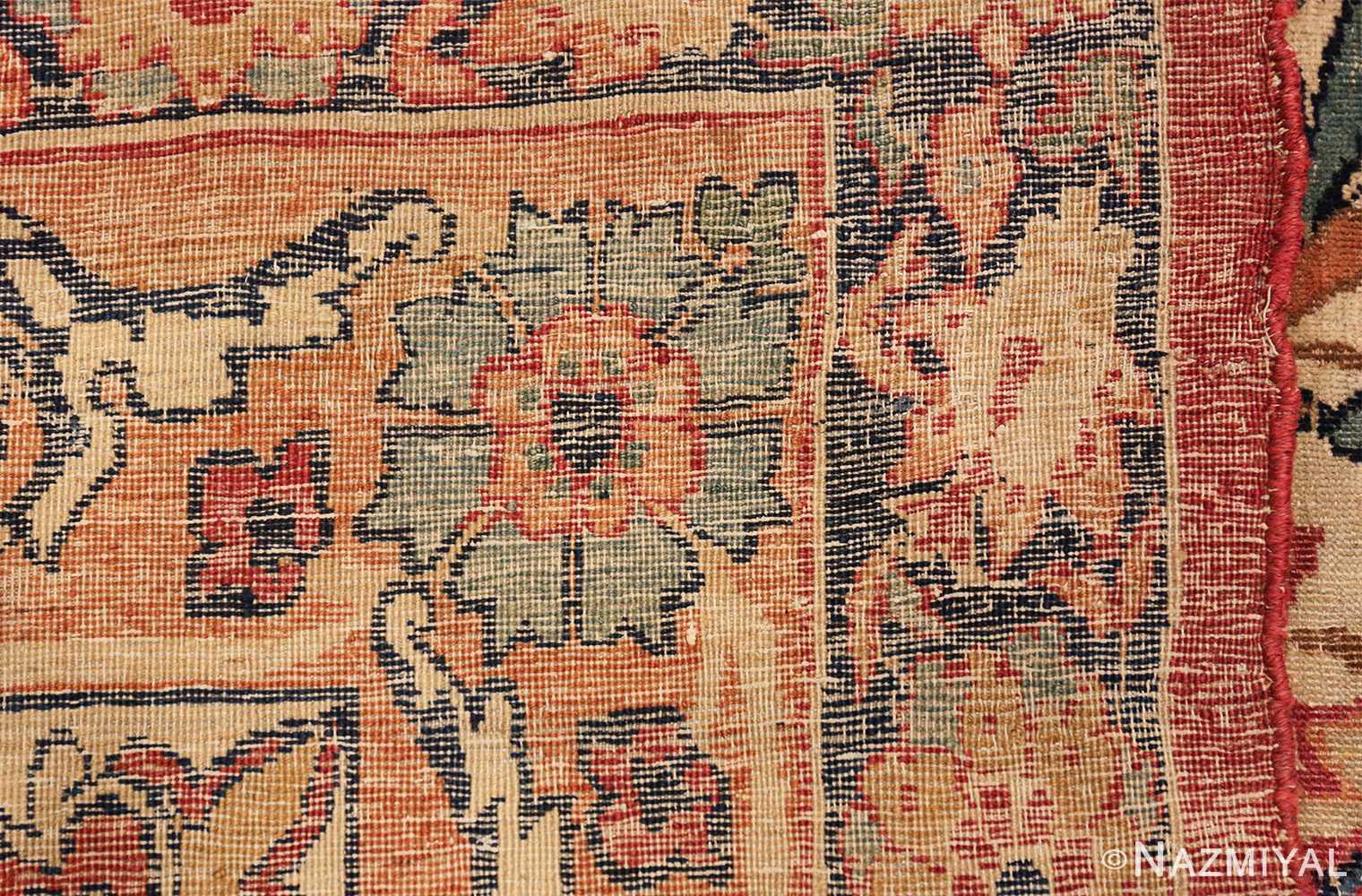 antique kerman persian rug 40523 weave Nazmiyal