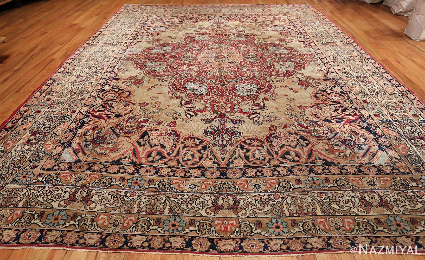 antique kerman persian rug 40523 whole Nazmiyal