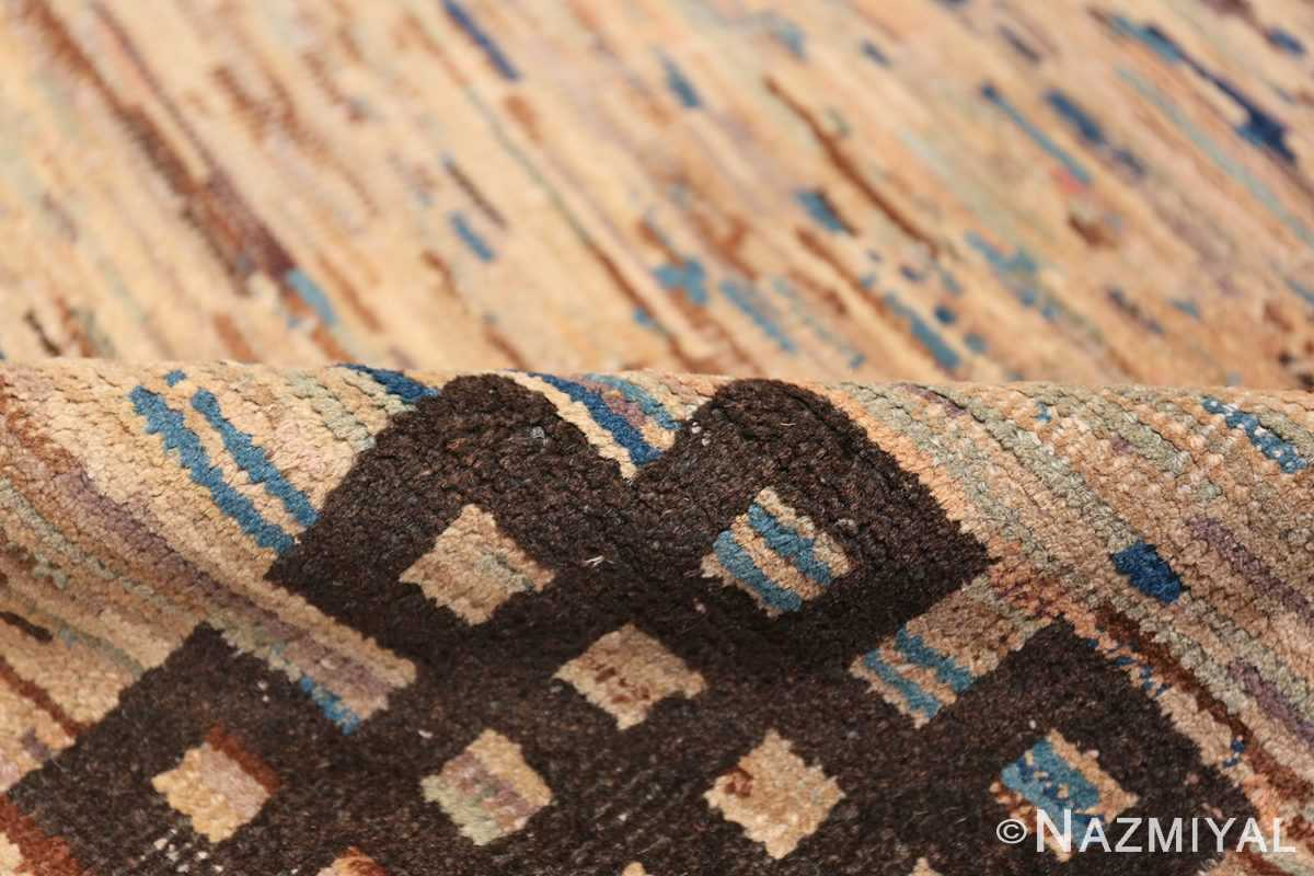 Antique Mongolian Rug 2865 Geometric Pile Nazmiyal