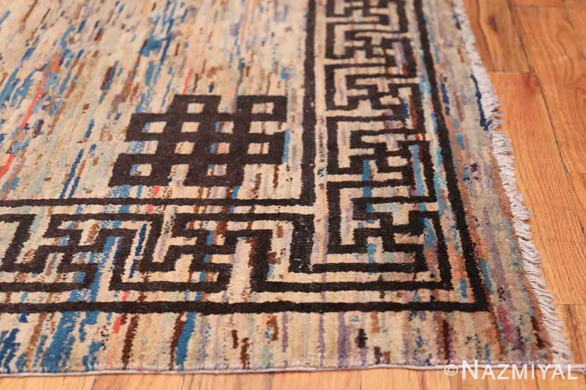 Antique Mongolian Rug 2865 Side Corner Nazmiyal