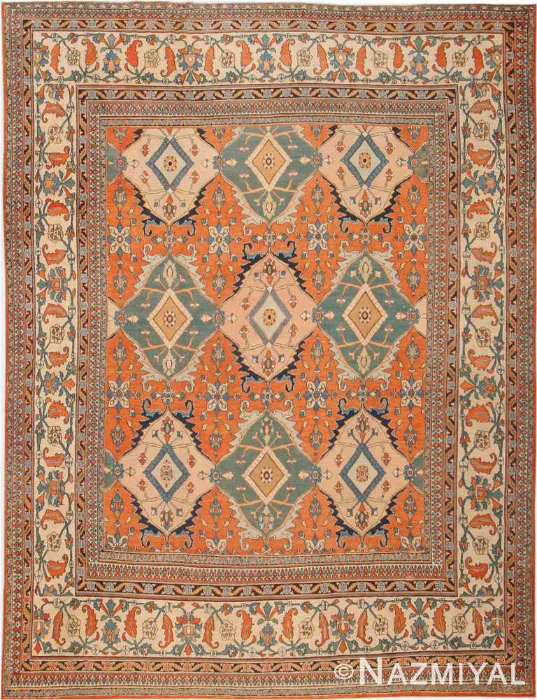Antique Room Size Persian Khorassan Area Rug #2040 by Nazmiyal Antique Rugs