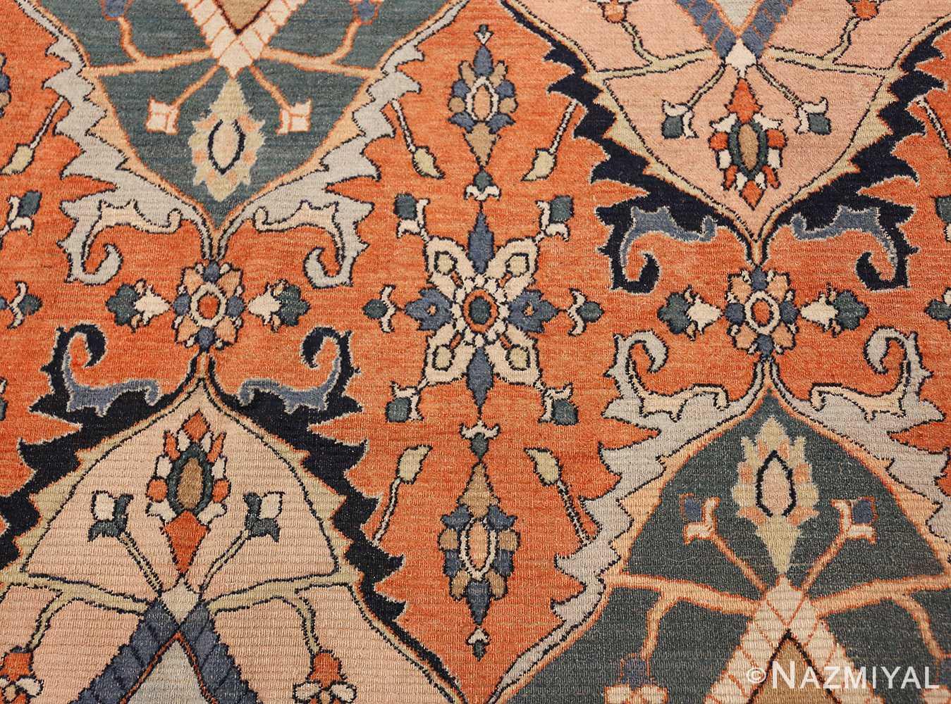 antique persian khorassan rug 2040 rust Nazmiyal