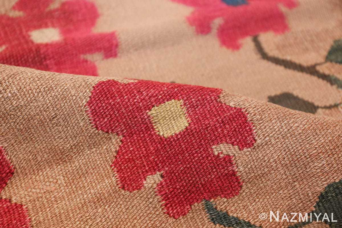 antique romanian flat woven bessarabian kilim rug 3123 pile Nazmiyal