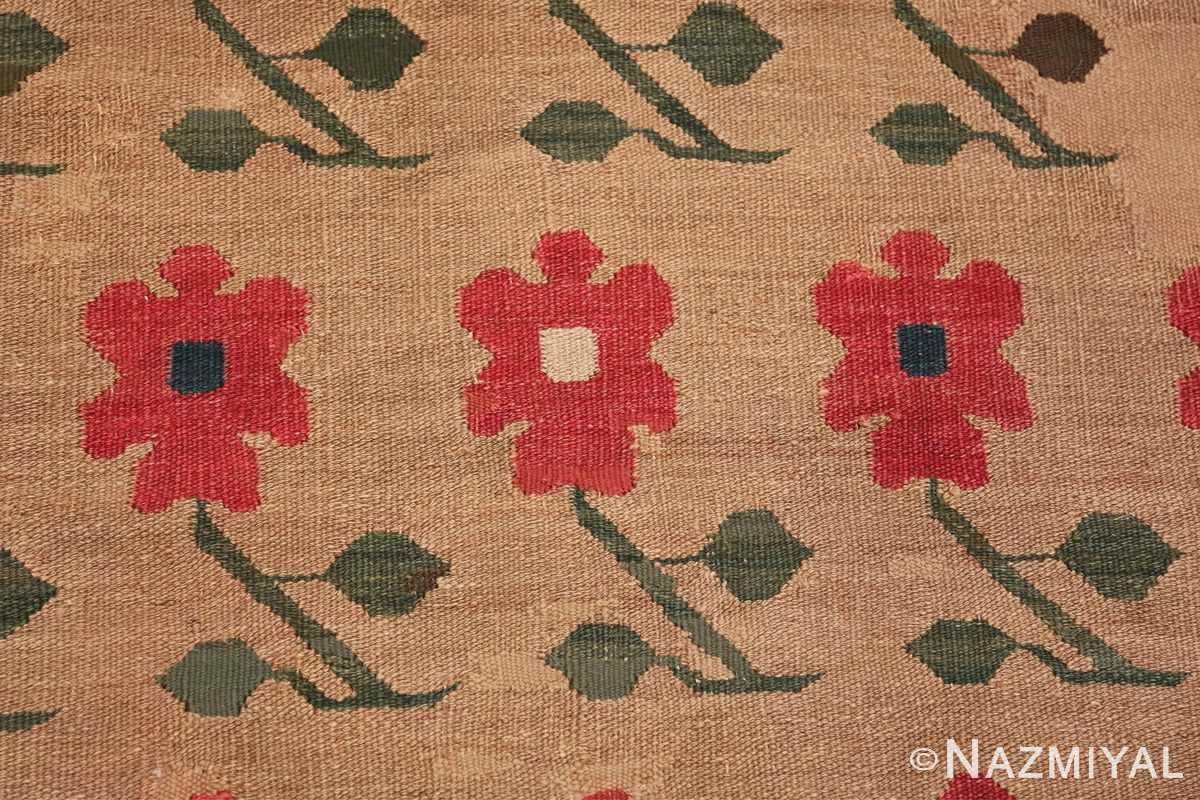 antique romanian flat woven bessarabian kilim rug 3123 trio Nazmiyal