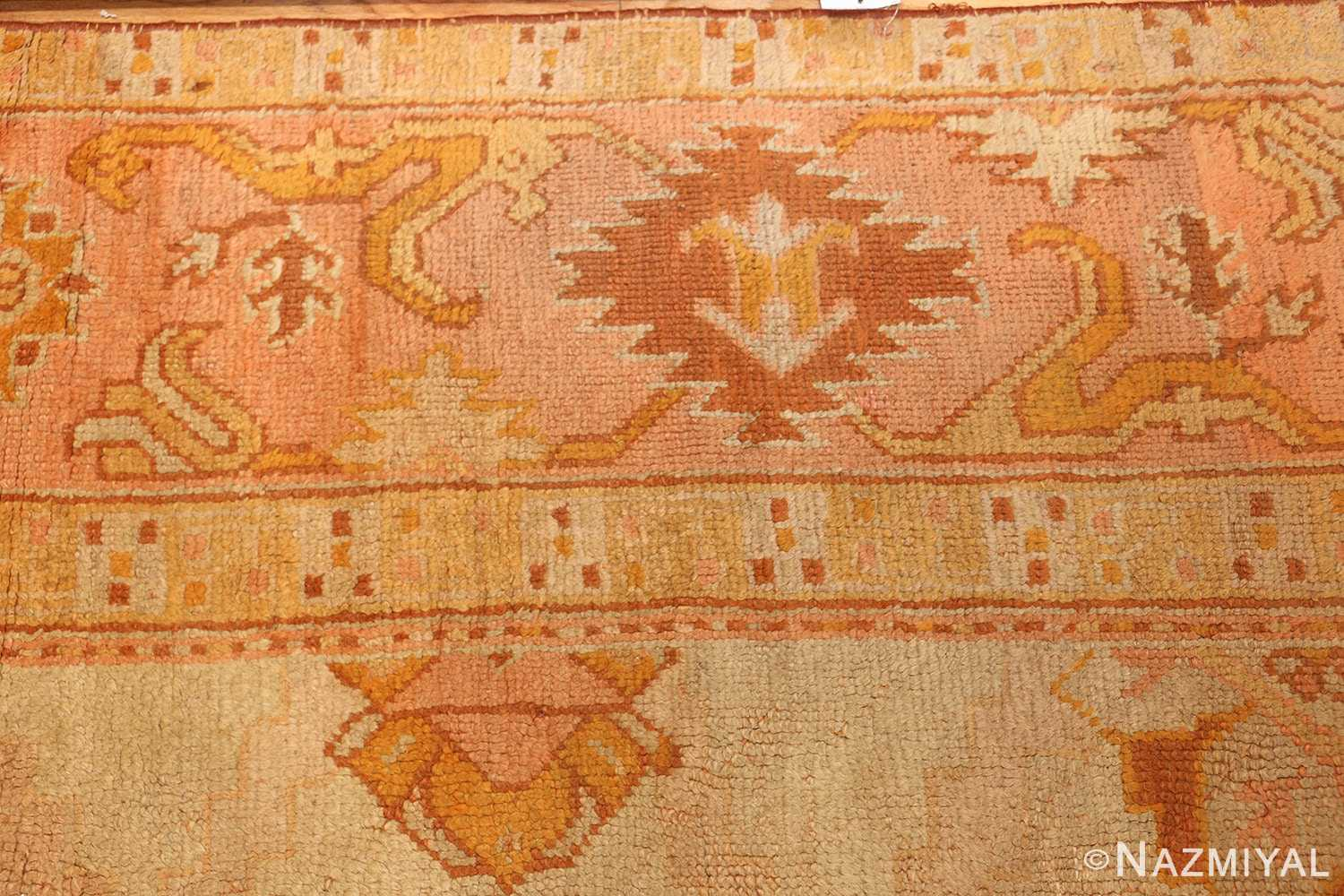 antique turkish oushak rug 2708 border Nazmiyal