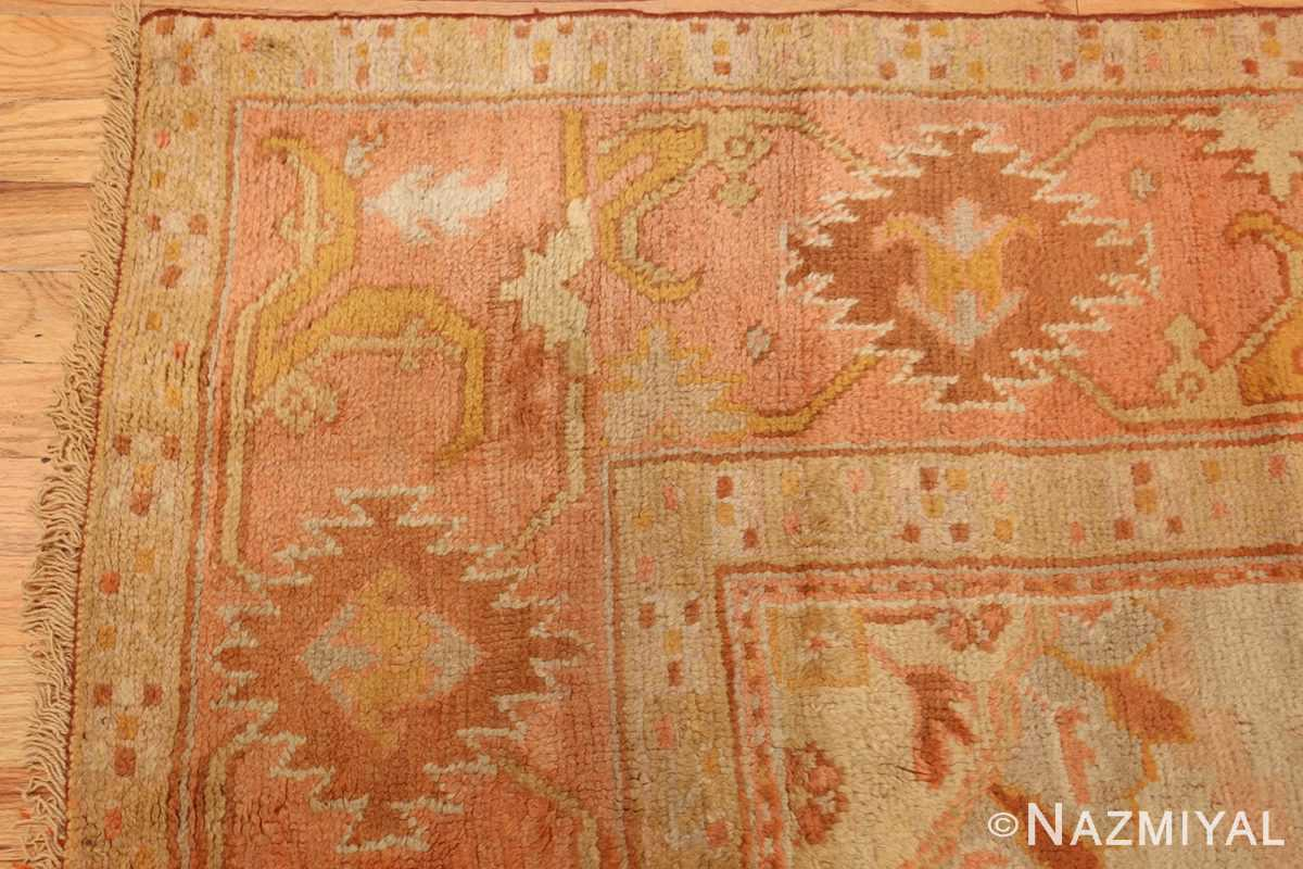 antique turkish oushak rug 2708 corner Nazmiyal