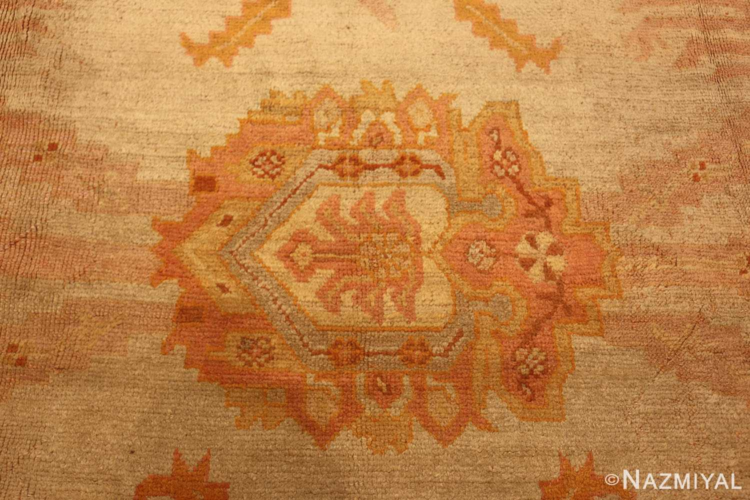 antiqu turkish oushak rug 2708 medallion Nazmiyal