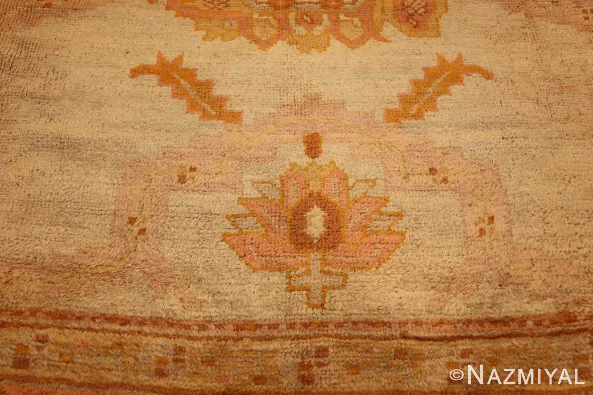 antique turkish oushak rug 2708 pink Nazmiyal
