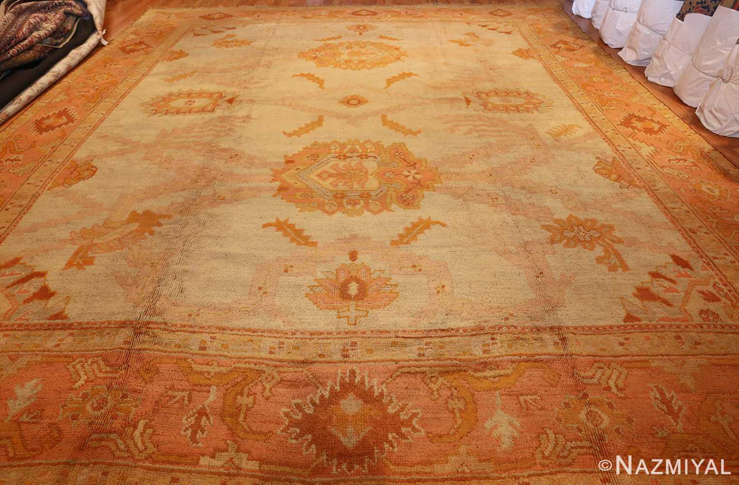 antique turkish oushak rug 2708 whole Nazmiyal