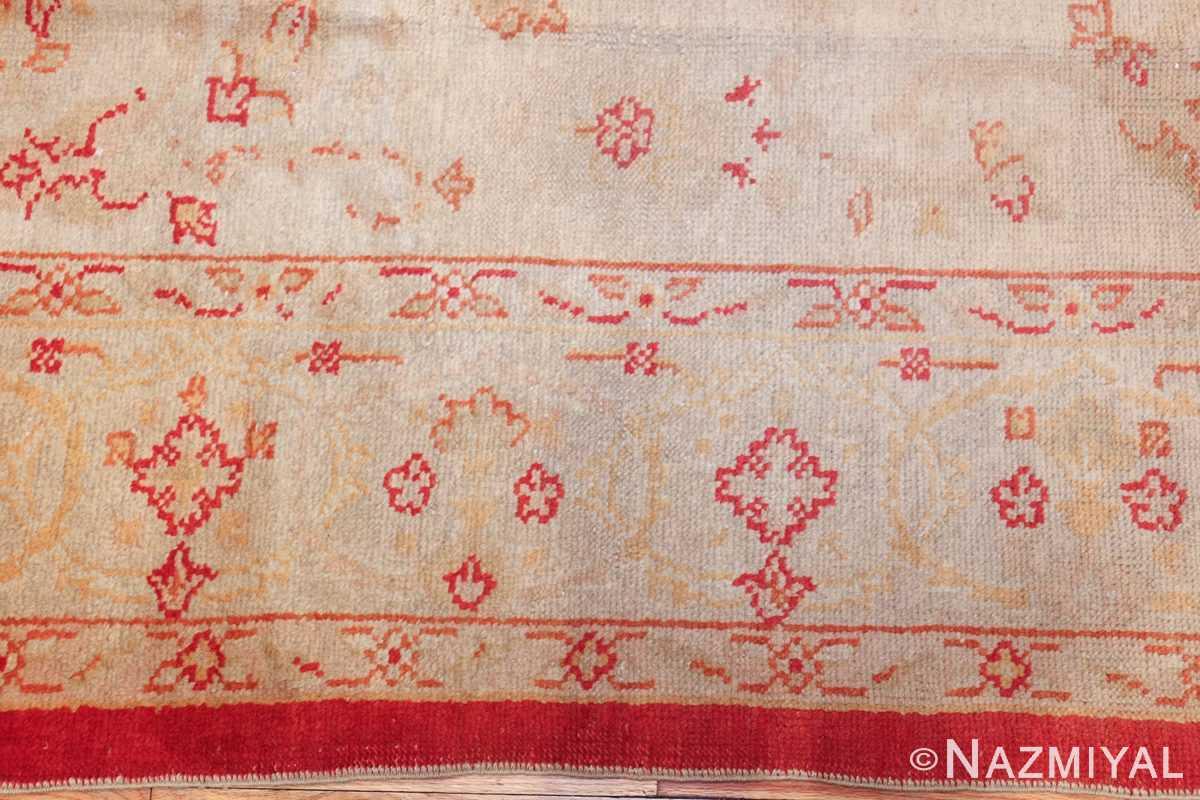 antique turkish oushak rug 2988 border Nazmiyal