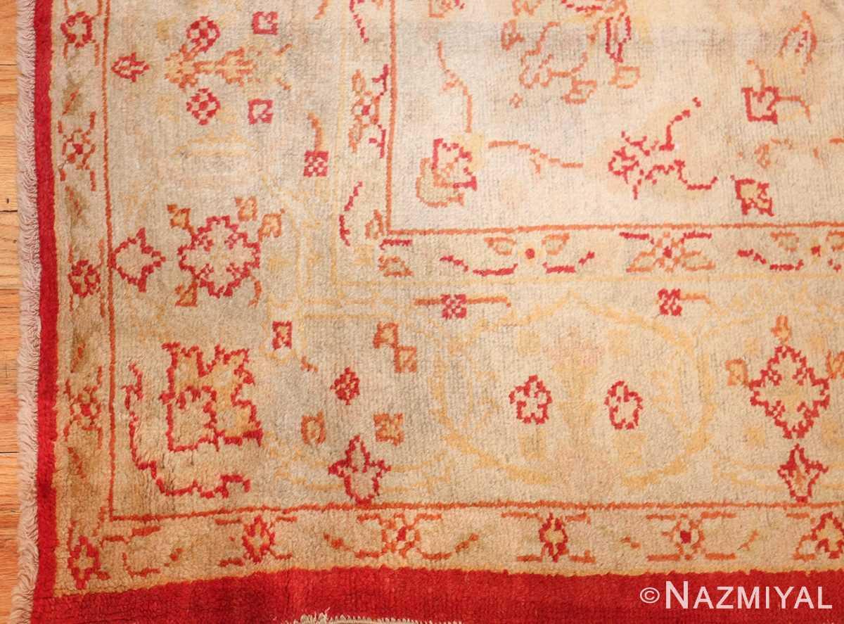 antique turkish oushak rug 2988 corner Nazmiyal