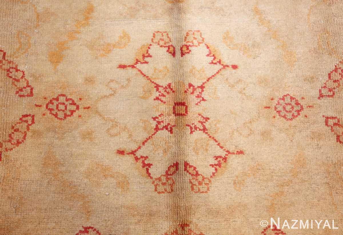 antique turkish oushak rug 2988 flower Nazmiyal