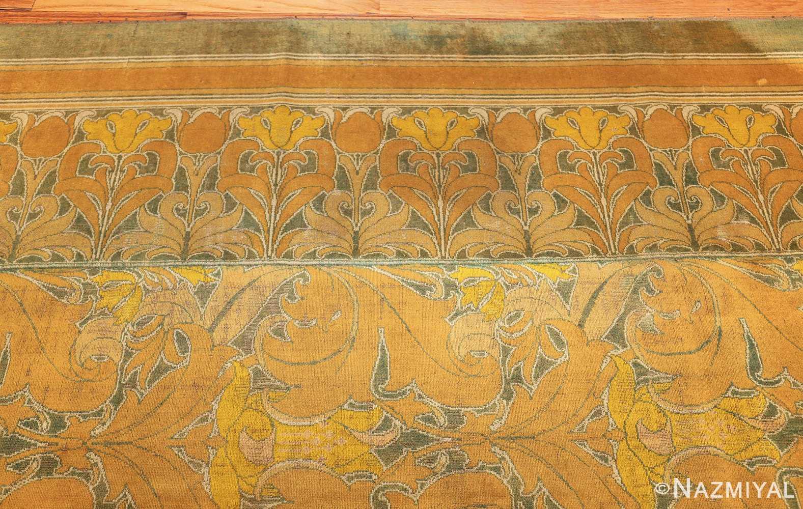 antique wilton english arts and crafts rug 2657 border Nazmiyal