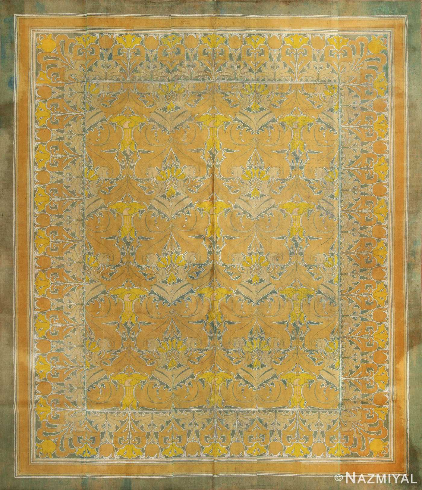 antique wilton english arts and crafts rug 2657 Nazmiyal