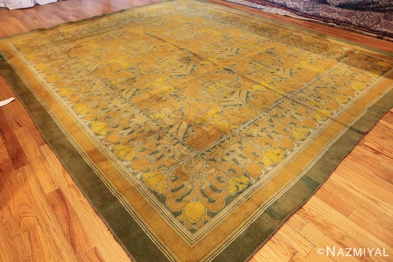 antique wilton english arts and crafts rug 2657 side Nazmiyal